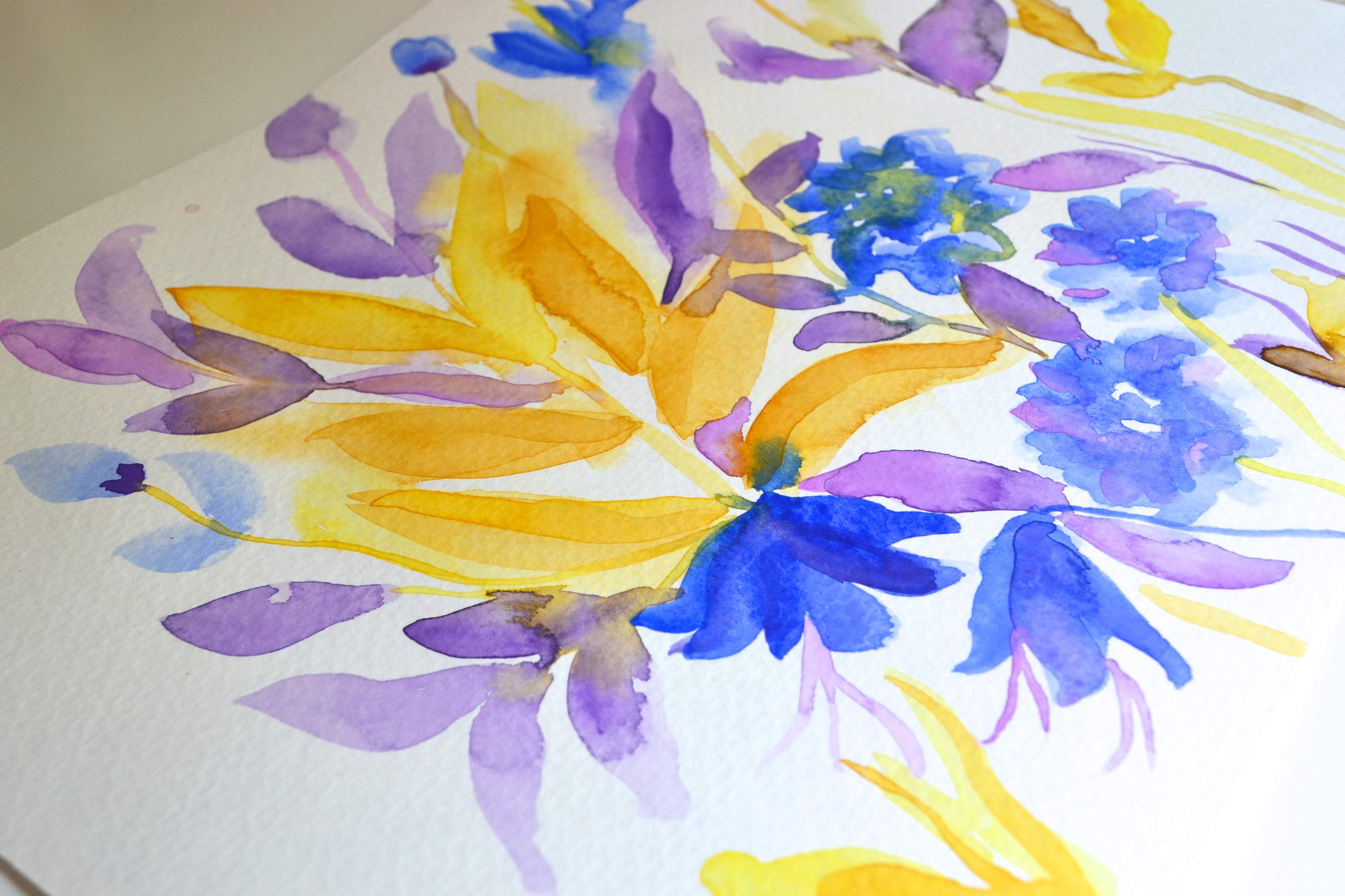 Obsessed with purple yellow and blue combinations - Combination of blue and purple ...