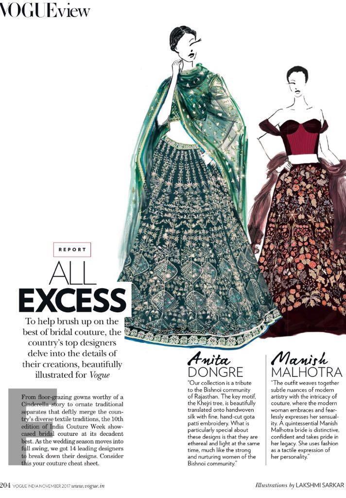 Illustration fashion vogue dress