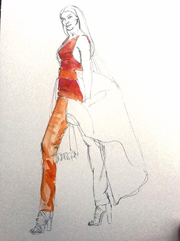 Starting on Sushmita Sen's illustration ..